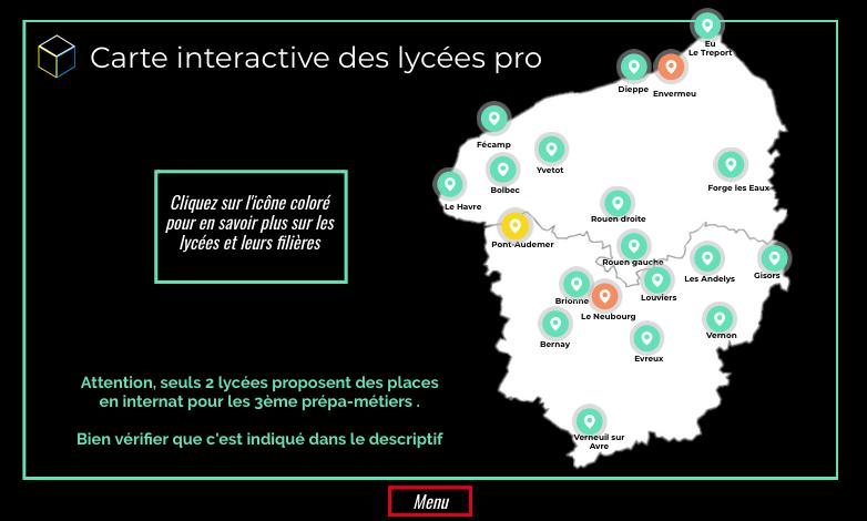 Infographie interactive sur l'orientation au collège